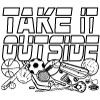 Take it Outside Coloring Page