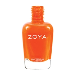 ZOYA Thandie Citrus Orange Cream Nail Polish | Safer Nail Polish, Non Toxic Nail Enamels, All Natural Cosmetic