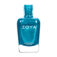 ZOYA Oceane Turquoise Metallic Pearl Nail Polish | Safer Nail Polish, Non Toxic Nail Enamels, All Natural Cosmetic