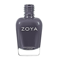 ZOYA Professional Nail Lacquer FeiFei Steel Blue Metallic | Camphor Free Nail Polish, Safer Nail Enamels, Holistic Beauty Salon Products