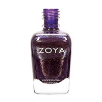 Zoya Hudson Purple Orchid Metallic Silver Shimmer Nail Polish | Toxic Free Nail Polish, Safer Nail Enamels, Natural Make Up