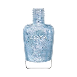 ZOYA Saldana Blue iridescent Holo Nail Topcoat | Iridescent Fingernail Polish, Safer Nail Top Coats, Best Non-Toxic Nail Polishes