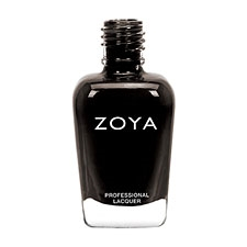 ZOYA Professional Nail Lacquer Willa Onyx Black Cream Creme | Camphor Free Nail Polish, Safer Nail Enamels, Natural Make Up