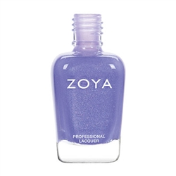 ZOYA Professional Nail Lacquer Aster Periwinkle Fleck Polish | Camphor Free Nail Polish, Safer Nail Enamels, Natural Make Up