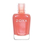 ZOYA Professional Nail Lacquer Zahara Coral Orange Polish | Camphor Free Nail Polish, Safer Nail Enamels, Natural Make Up