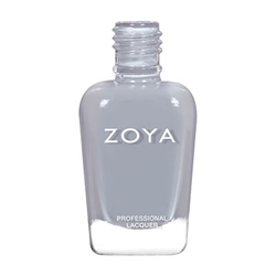 ZOYA Professional Nail Lacquer August Gray Leather | Camphor Free Nail Polish, Safer Nail Enamels, Natural Make Up