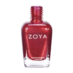 ZOYA Kimmy Metallic Candy Apple Red Nail Polish | Camphor Free Nail Polish, Safer Nail Enamels, Natural Make Up