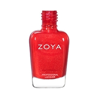 ZOYA Marigold Micro-Shimmer Red Nail Polish | Red Fingernail Polish, Safer Nail Enamels, Best Non-Toxic Nail Polishes