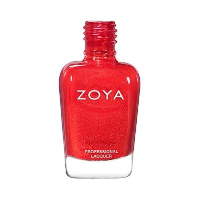 ZOYA Marigold Micro-Shimmer Red Nail Polish   Red Fingernail Polish ...