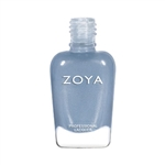 Zoya Darby Dusty Blue Gray Metallic Nail Polish | Toxic Free Nail Polish, Safer Nail Enamels, Natural Make Up