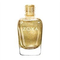 ZOYA Professional Nail Lacquer Ziv Gold Polish | Camphor Free Nail Polish, Safer Nail Enamels, Natural Make Up