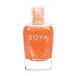 ZOYA Professional Nail Lacquer Jesy Firey Coral Orange Metallic Polish | Camphor Free Nail Polish, Safer Nail Enamels, Natural Make Up