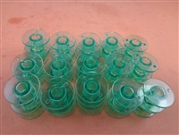20 Green Plastic Bobbins for Viking Emerald 116 118 122 183 Sewing Machines