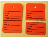 Red HANG Price Label Tags Clothing Tagging Tags Gun Two parts