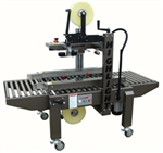 "CASE SEALER, SEMI-AUTO SIDE DRIVE UNIFORM W/2"" TOP & BOTTOM TAPE HEADS"