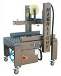 "CASE SEALER, SEMI-AUTO SIDE DRIVE RANDOM W/3"" TOP & BOTTOM TAPE HEADS"
