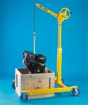 SKY HOOK W/CHERRY PICKER BASE, HANDCRANK LIFT W/360 SWIVEL
