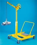SKY HOOK W/REVERSE CHERRY PICKER BASE, HANDCRANK LIFT