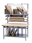 "BIB10 PACKAGING WORKBENCH, 72""x30"" SOLID MAPLE TOP, COMPLETE KIT"