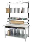 "BIB6 PACKAGING WORKBENCH, 60""x30"" ESD LAMINATE TOP, COMPLETE KIT"
