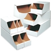"Bin Box, 12 x 12 x 4 1/2"" Stackable Bin Box, 50/Bundle"