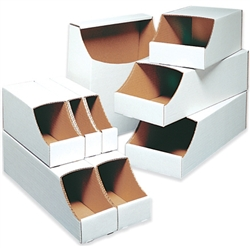 "Bin Box, 4 x 18 x 4 1/2"" Stackable Bin Box, 50/Bundle"