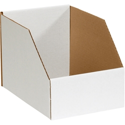 "Bin Box, 8 x 12 x 7"" Jumbo Open Top Bin Box, 50/Bundle"