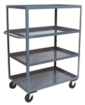 "Stock Truck 4 Shelf 24x48 3,000# Cap 6""x2"" Casters"