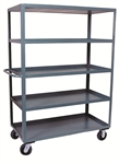 "Stock Truck 5 Shelf 30x60 3,000# Cap 6""x2"" Casters"