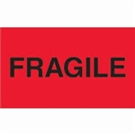 "LABELS, 3"" x 5"", FRAGILE, 500/RL"