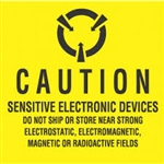"LABELS, 4"" x 4"", CAUTION SENSITIVE ELECTRONIC DEVICES..,500/ROLL"