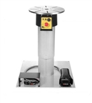 "Ergo Chief 2-Axis Motorized Rotary Work Positioner 400 lb Cap w/ 12"" Stroke Telescopic Pillar & Base"