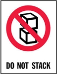 "LABELS, 3"" X 4"", DO NOT STACK, 500/ROLL"