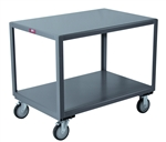 Mobile Table 2 Shelf 30x48 Heavy Duty 1200 lb Capacity