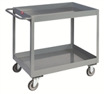 "Cart, 2 Shelf Deep Lipped 18x36 with 5"" Casters 1200 lb. Cap"