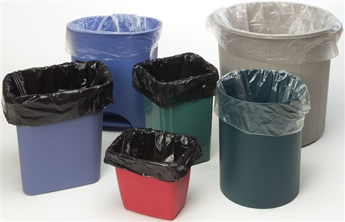 Trash Liners 38x60 Black HDPE Liners 22 Microns 150/Case