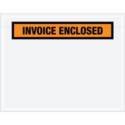 "7"" x 5 1/2"" Orange ""Invoice Enclosed"" Envelopes 1000/Case"