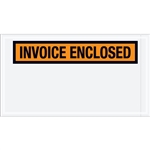 "5 1/2"" x 10"" Orange ""Invoice Enclosed"" Envelopes 1000/Case"