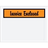 "4 1/2"" x 6"" Orange ""Invoice Enclosed"" Envelopes 1000/Case"