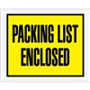 "4 1/2"" x 5 1/2"" Yellow ""Packing List Enclosed"" Envelopes 1000/Case"