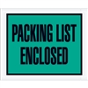 "4 1/2"" x 5 1/2"" Green ""Packing List Enclosed"" Envelopes 1000/Case"