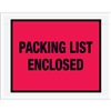 "7"" x 5 1/2"" Red ""Packing List Enclosed"" Envelopes 1000/Case"
