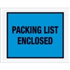 "7"" x 5 1/2"" Blue ""Packing List Enclosed"" Envelopes 1000/Case"