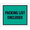 "7"" x 5 1/2"" Green ""Packing List Enclosed"" Envelopes 1000/Case"