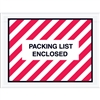 "4 1/2"" x 6"" Red (Striped) ""Packing List Enclosed"" Envelopes 1000/Case"