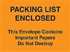 "4 1/2"" x 6"" Orange ""Important Papers Enclosed"" Envelopes 1000/Case"