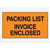 "4 1/2"" x 5 1/2"" Orange ""Packing List/Invoice Enclosed"" Envelopes 1000/Case"