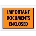 "5 1/4"" x 7 1/2"" Orange ""Important Documents Enclosed"" Envelopes 1000/Case"