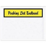 "4 1/2"" x 6"" Yellow ""Packing List Enclosed"" Envelopes 1000/Case"