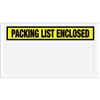 "5 1/2"" x 10"" Yellow ""Packing List Enclosed"" Envelopes 1000/Case"